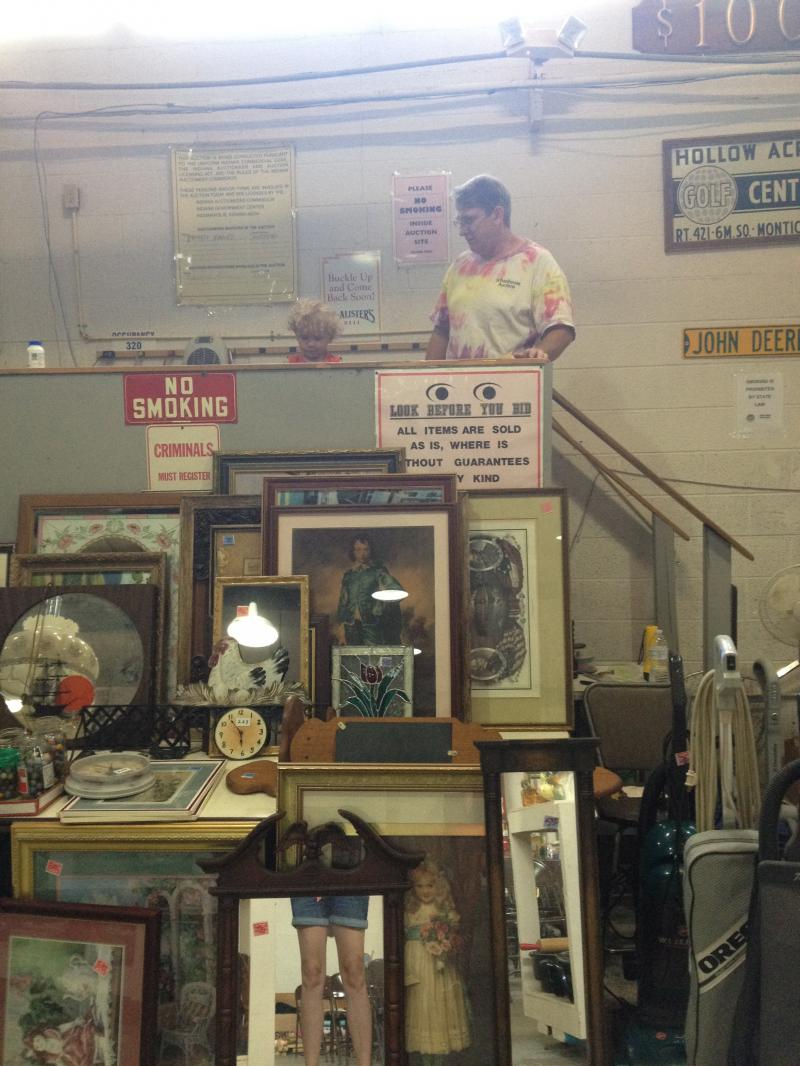 One of my favorites: Schoolhouse Auctions in teeny-tiny Yeoman, Indiana.