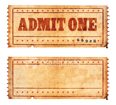 vintage tickets